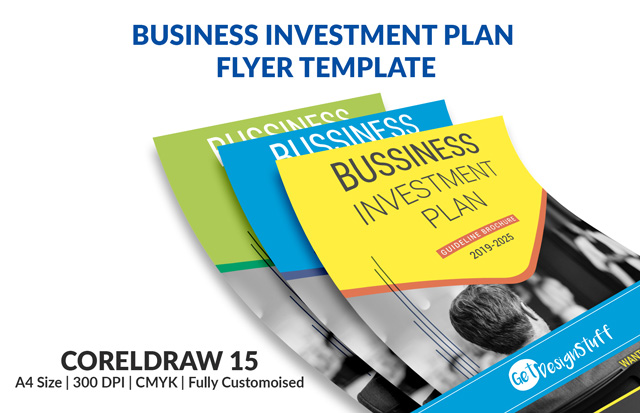 1996 Business Investment Plan Flyer Coreldraw 15 Template