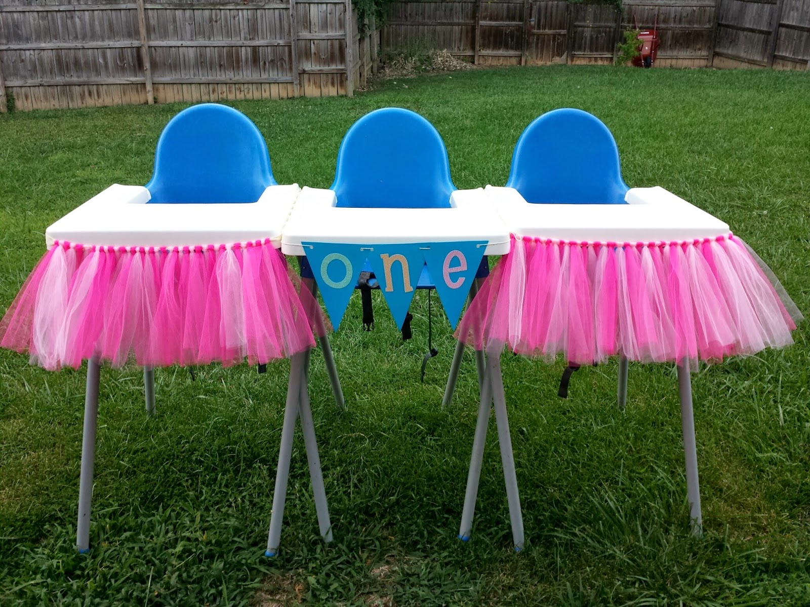 high chair tutu white leather chairs for living room triplets 43 toddler diy tutus and skirts