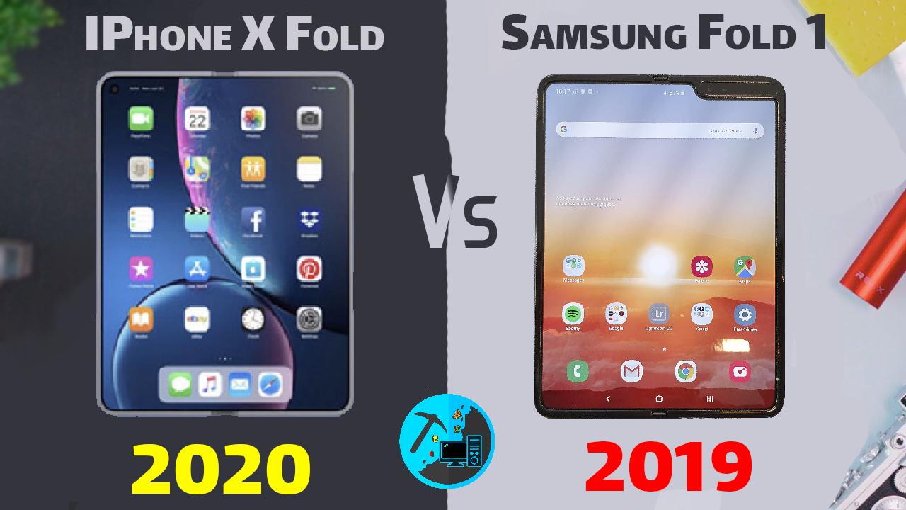 ايفون اكس، ايفون قابل للطي، ايفون، iphone fold, iphone x, iPhone 2019 ,samsung fold ,مقارنة بين ايفون و سامسونغ , شركه ابل وسامسونج ومواصفات واسعار ومميزات وعيوب