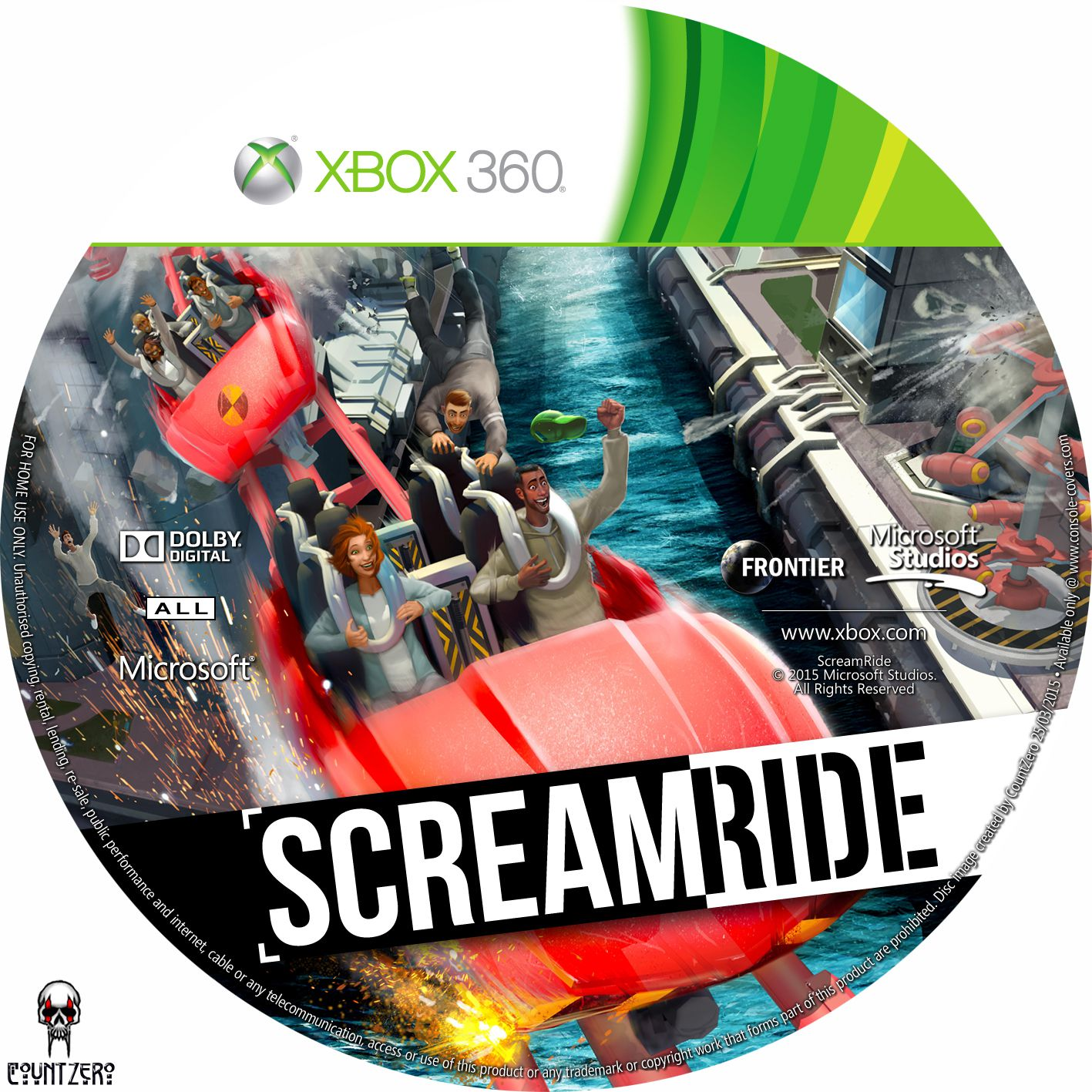 Label Scream Ride Xbox 360