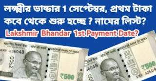 Lakshmir Bhandar Payment Date & Beneficiary List - টাকা কবে দেওয়া শুরু হবে লক্ষ্মীর ভান্ডার | Latest News