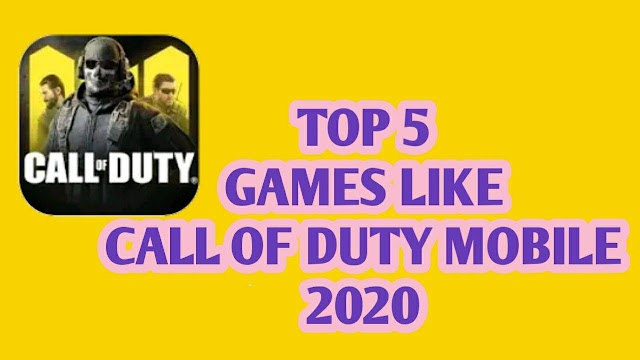 Top 5 Games Like Call Of Duty Mobile Battle Royale On Android 2020