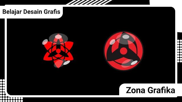 Cara Membuat Mata Sharingan Sasuke Uchiha dengan Corel Draw X7