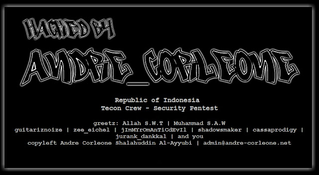53 Websites defaced by Andre Corleone (Indonesian hacker)