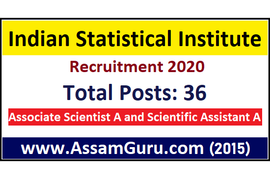 Indian Statistical Institute Job 2020
