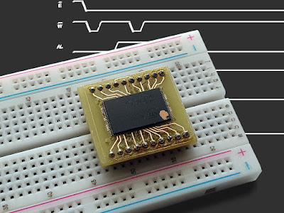 Read NAND Flash device signature with Arduino