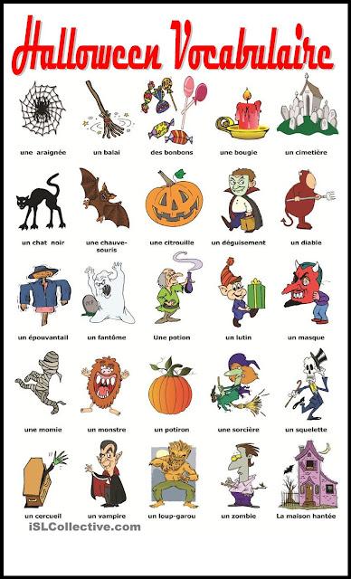 Halloween - słownictwo 2 - Francuski przy kawie