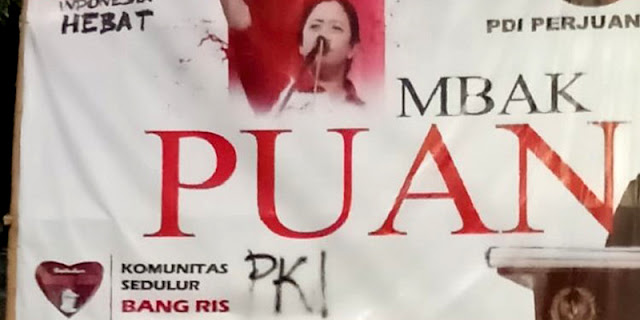 Baliho Puan Jadi Korban Vandalisme, PDIP Jatim Bakal Tempuh Jalur Hukum