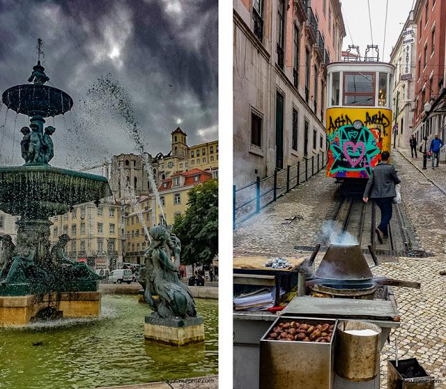 Lisboa: Praça do Rossio e Elevador da Glória