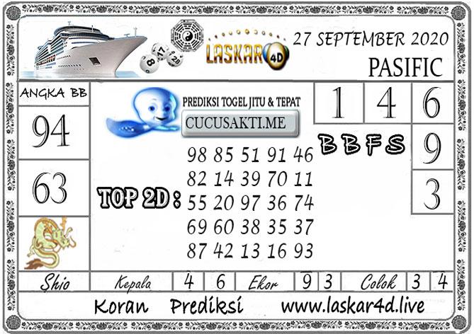 Prediksi Togel PASIFIC LASKAR4D 27 SEPTEMBER 2020
