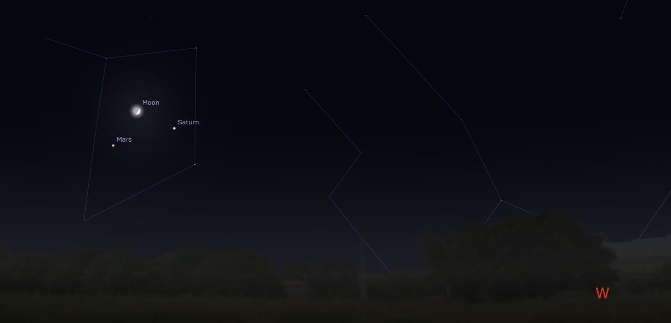 August 31 Moon, Saturn, Mars Conjunction [Stellar Neophyte ...