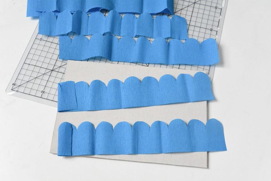 papel creppe para forrar las tapas