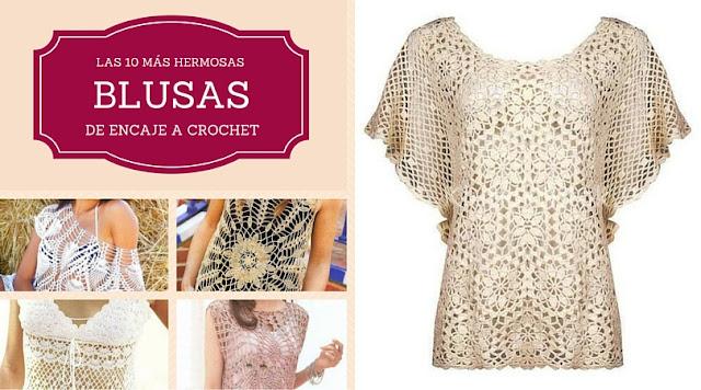 Las 10 más Hermosas Blusas de Encaje a Crochet