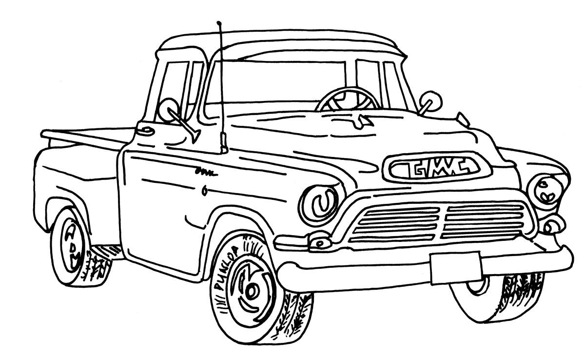 free coloring pages cars and trucks | Handmade By Paula: MWT Masculine Cards