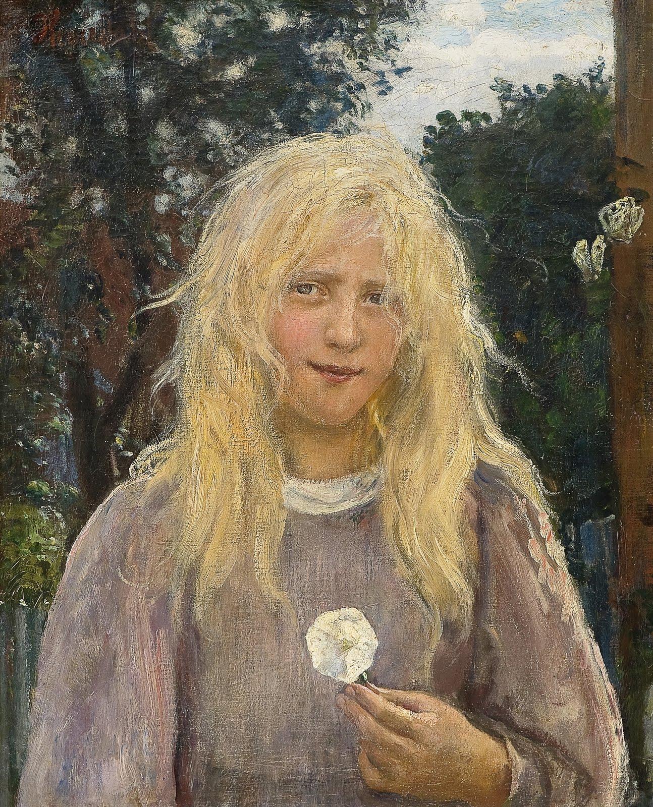 Hans Heyerdahl The Girl with Linen Hair C