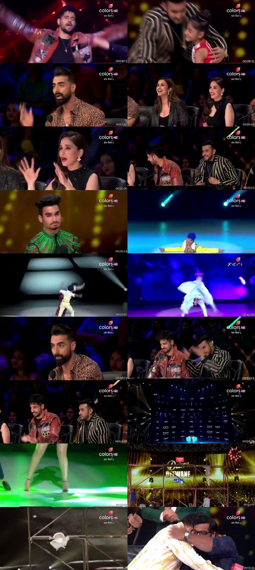 Screenshots Of Hindi Show Dance Deewane 2 27th July 2019 Episode 13 300MB 480P HD