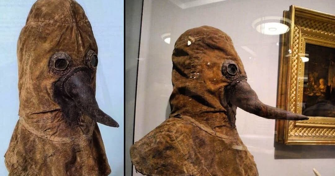 Here's an Authentic 16th Century Plague Doctor Mask Preserved and on Display at the German Museum of Medical History
