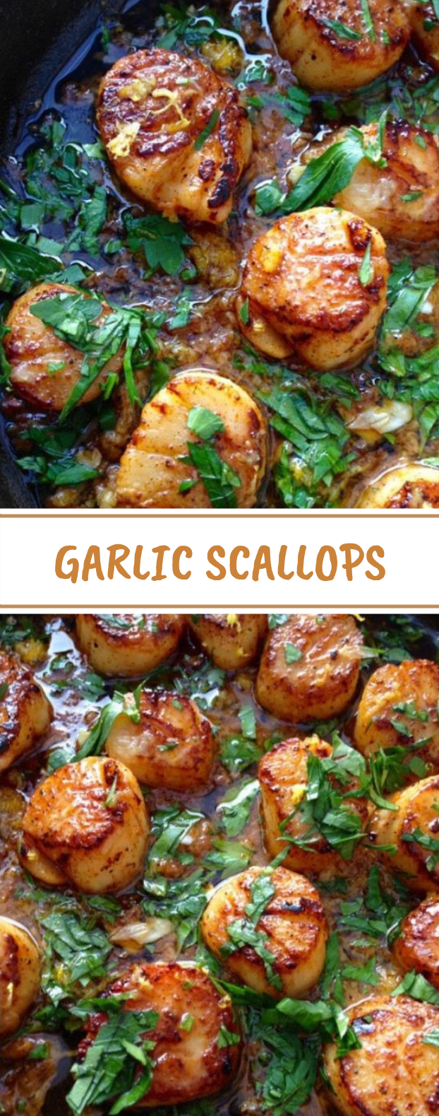Healthy Garlic Scallops #paleo #lowcarb
