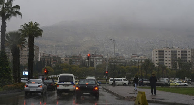منخفض جوي بفعالية جيدة وأمطار غزيرة متوقعة على دمشق و المنطقة الجنوبية غداً ..