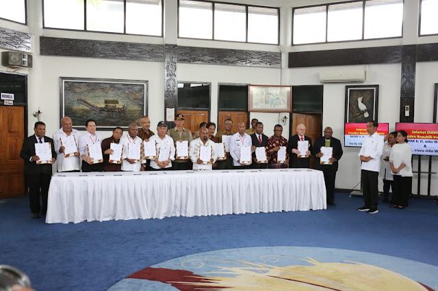 Presiden Saksikan 17 Pihak Sepakat Tanggulangi Banjir Sentani