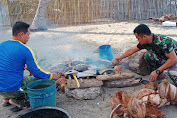 Komunitas Penyelam Sumbang Ikan Segar Untuk Prajurit Satgas TMMD Ke- 111 Selayar