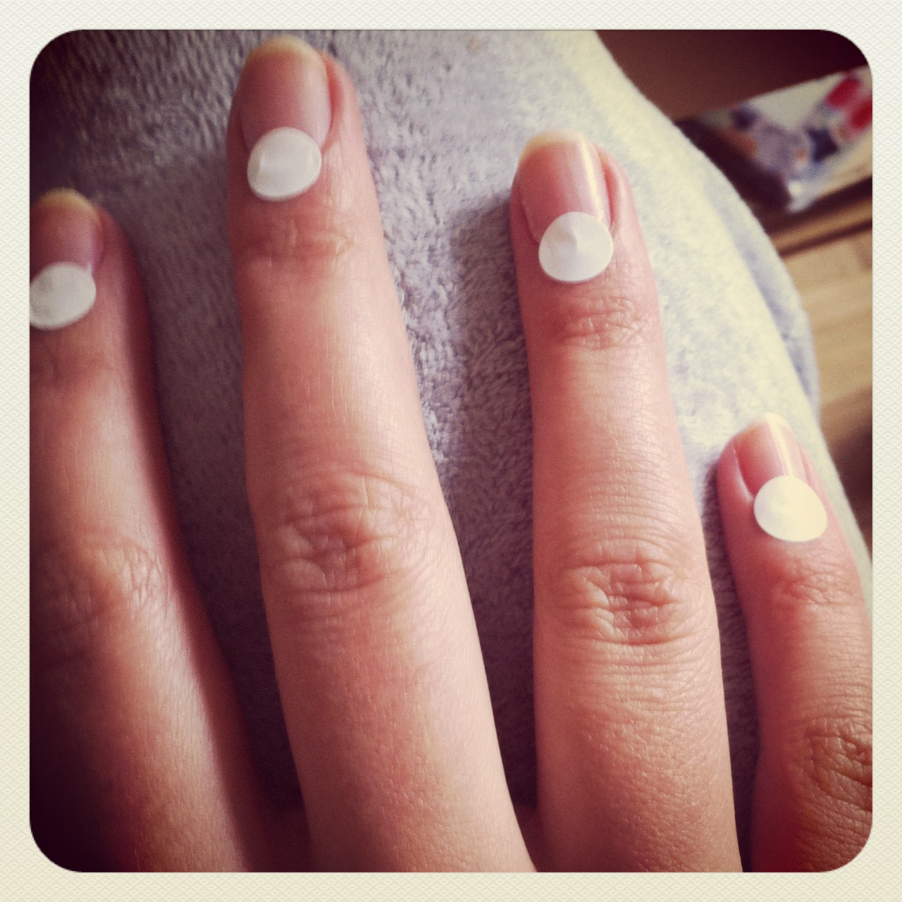 Half Well Nail Tips: Straight Up Style: Half-Moon Nails How-To