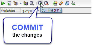 SQL INSERT data then COMMIT to make permanent changes in the database. Example By SQL Tutorial Tips