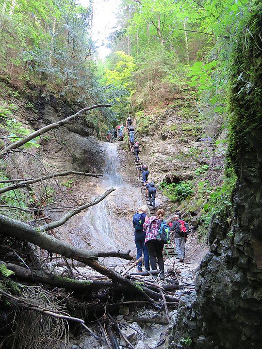 Piecky. Wodospad Tarasowy (słow. Terasový vodopád).