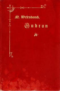 Verschiedene Einbände der Gudrun 1868, Goldgeprägte OLwd