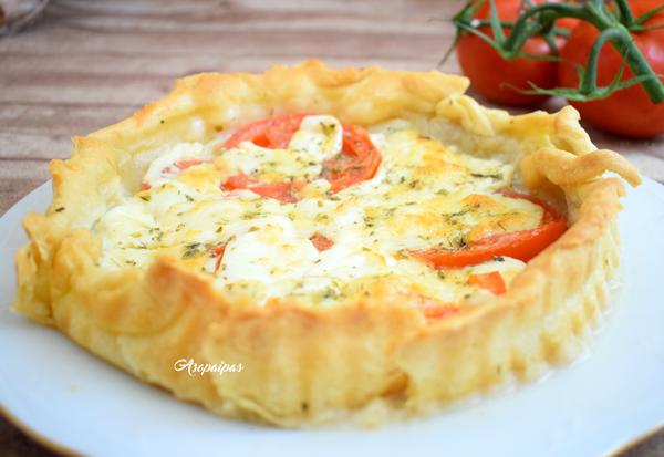 Tarta de Tomate y Mozzarella. Vídeo Receta