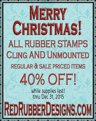 40% OFF ALL RUBBER STAMPS!