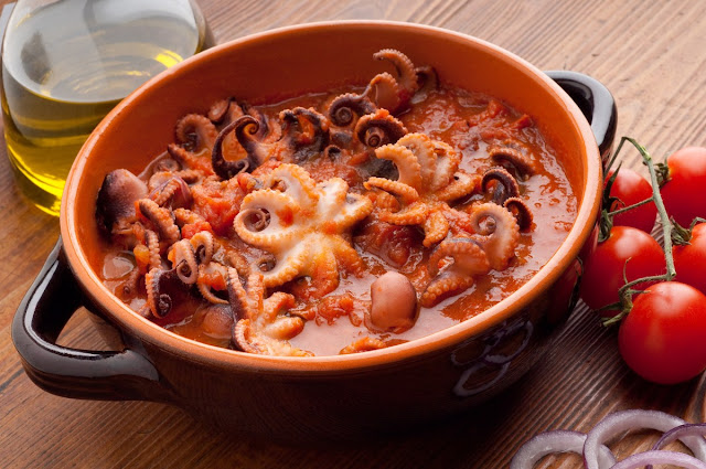 purpetielli affogati - stewed octopus