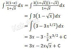 Penyelesaian integral fungsi aljabar