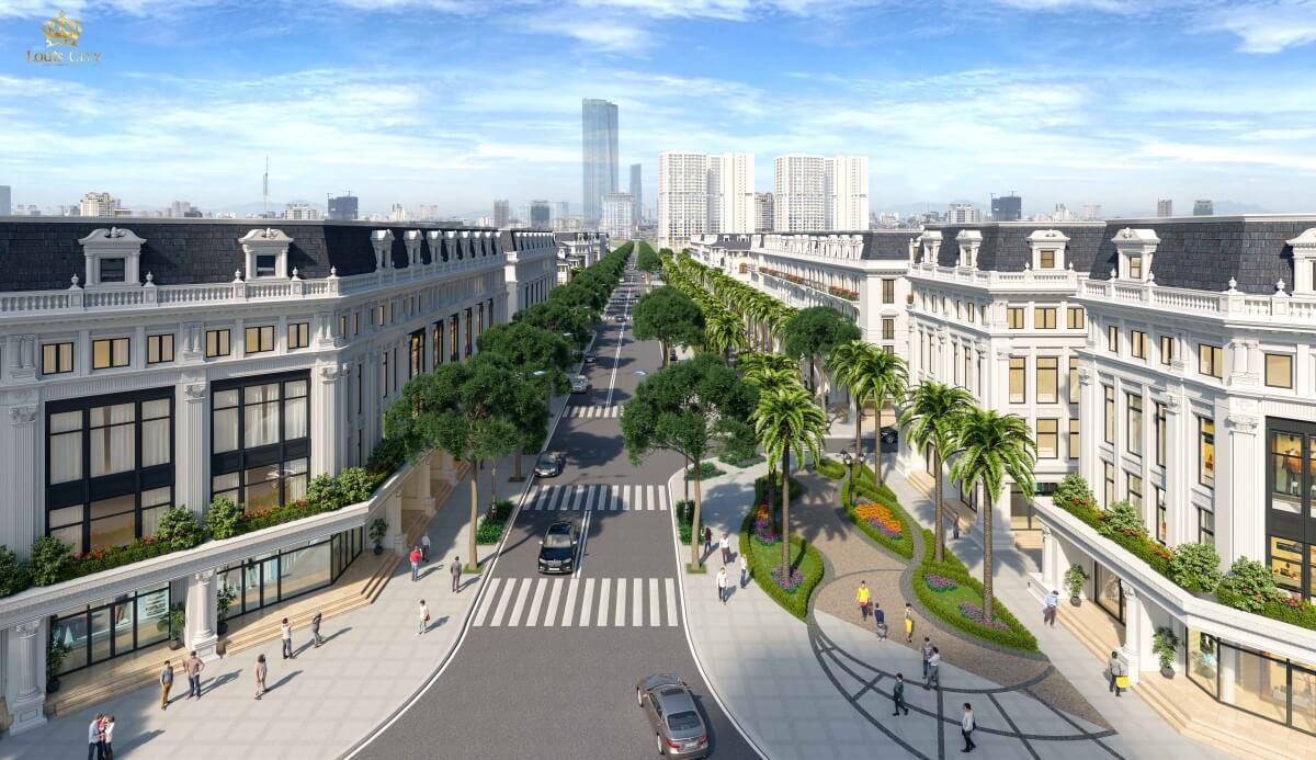 Liền kề biệt thự dự án Louis City Hoàng Mai