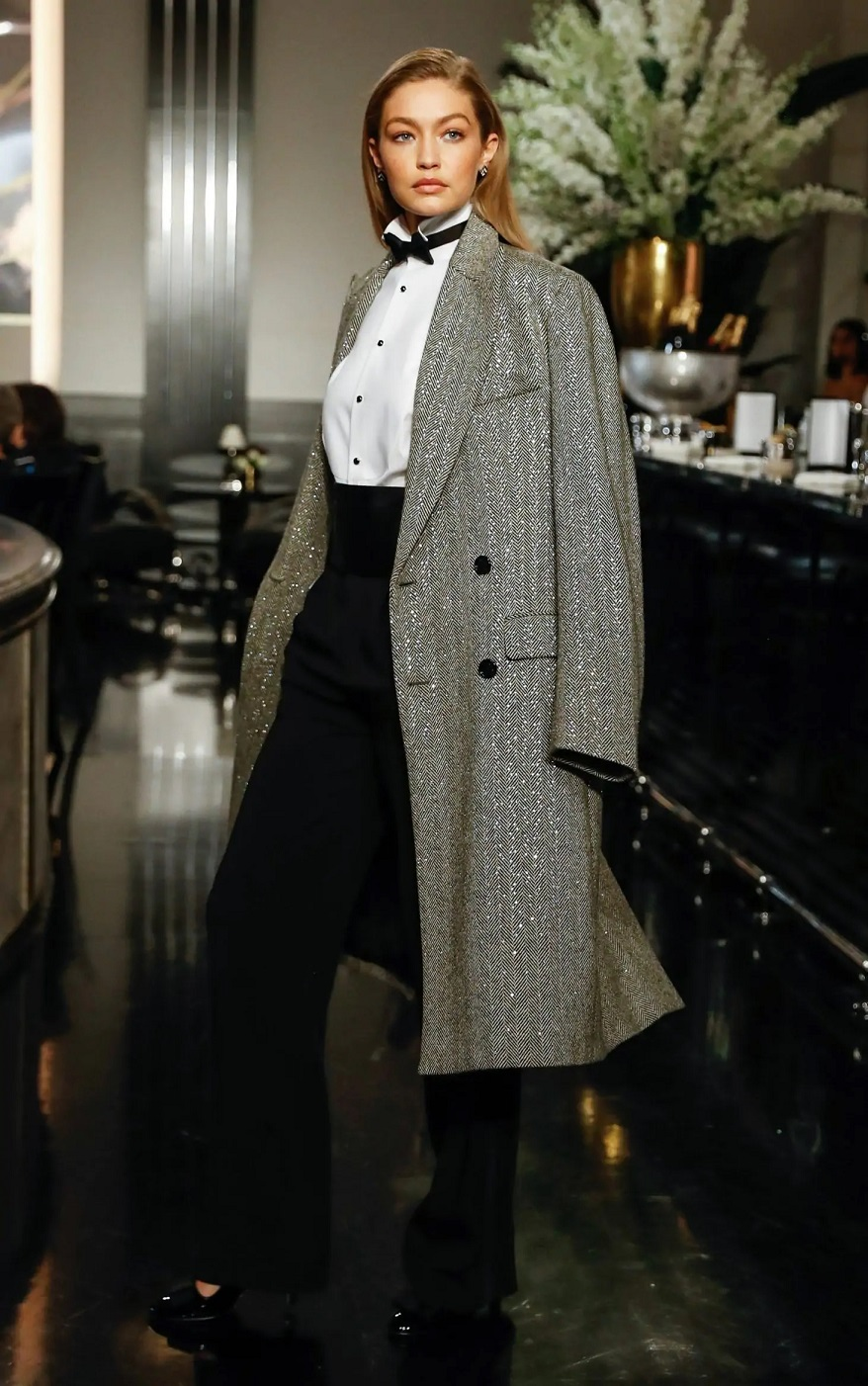 Gigi Hadid walks the runway at the Ralph Lauren Fall 2019 Collection