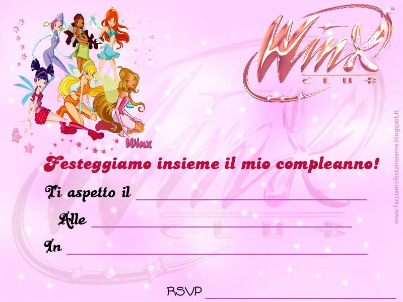 Winx: invito di compleanno. ~ Facciamo festa insieme