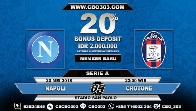 Prediksi Bola Napoli VS Crotone 20 Mei 2018
