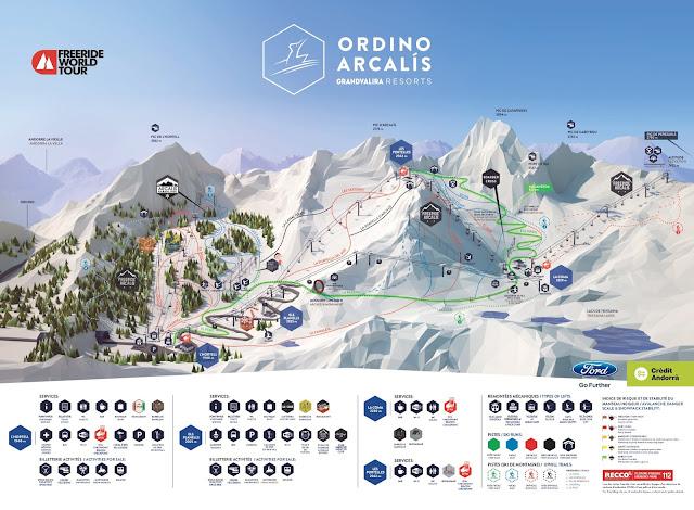 Mapa de pistas de Ordino Arcalís