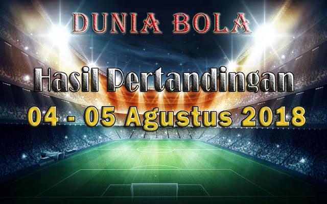 Hasil Pertandingan Sepak Bola Tanggal 04 - 05 Agustus 2018