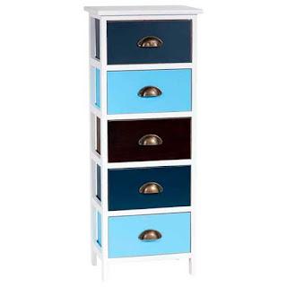 Mueble cajones de colores alto