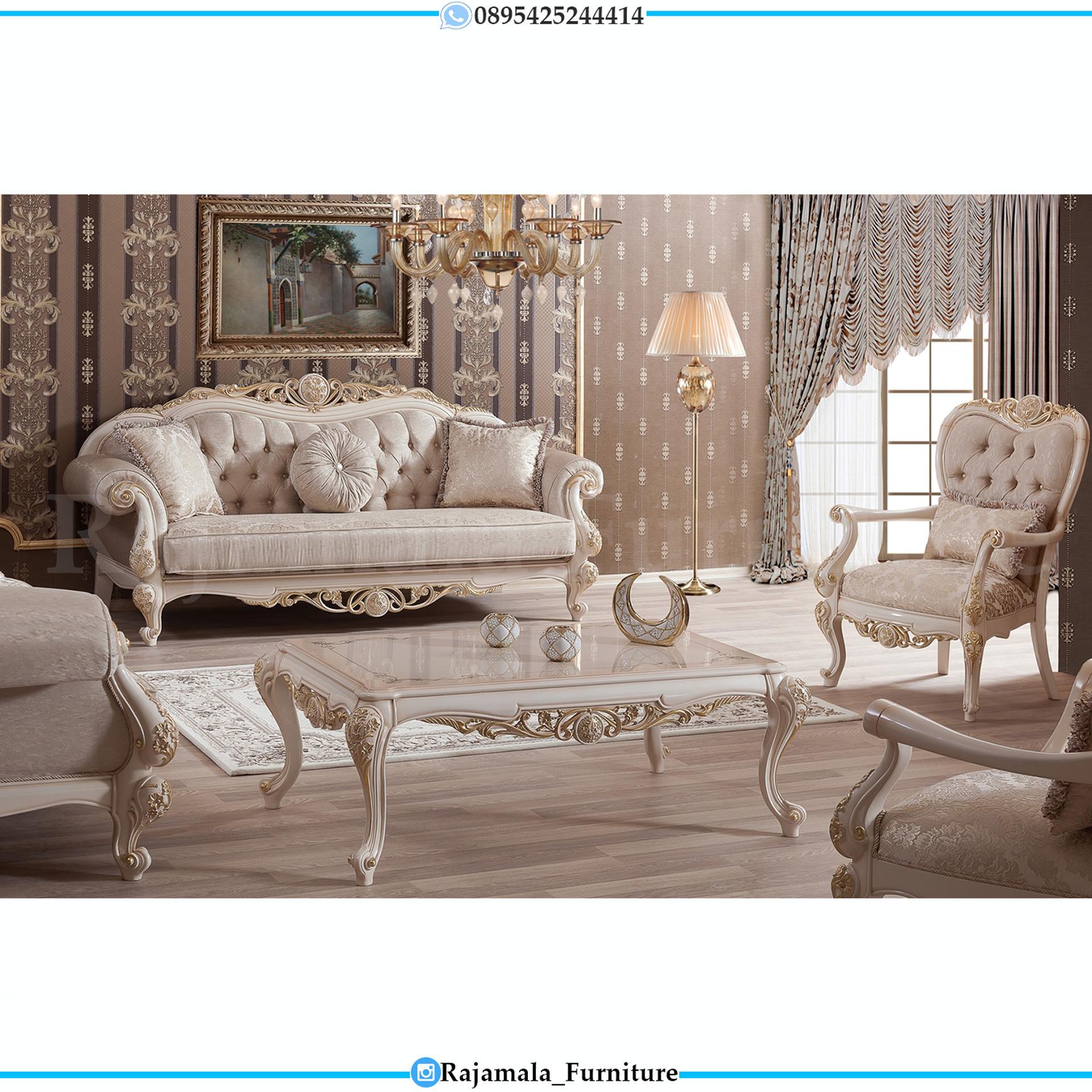Desain Sofa Tamu Mewah Elegant Style Luxury Furniture Jepara RM-0143