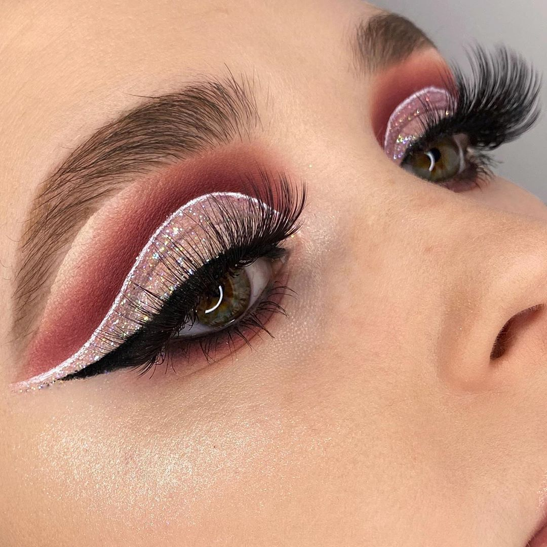 Maquiagem - sombra rosa para carnaval