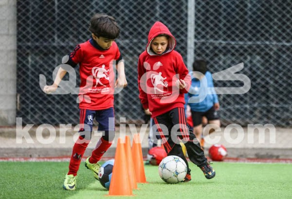 One of the training games for young soccer players