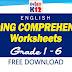 Reading Comprehension Worksheets for Grade 1-6 (Free Download)