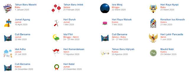 libur nasional dan cuti bersama indonesia tahun 2020
