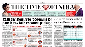 Times Of  India Epaper 27th March 2020