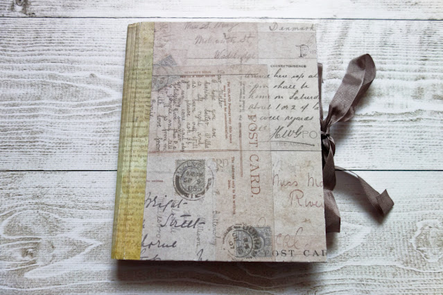 Minialbumik z kopert na listy w klimacie vintage