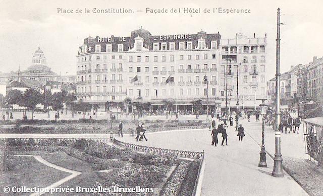 Gare du Midi  - Place de la Constitution - Hôtel de l'Espérance - Bruxelles disparu - Bruxelles-Bruxellons