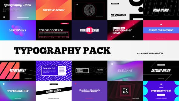 Stylish Typography Pack[Videohive][After Effects][29014567]