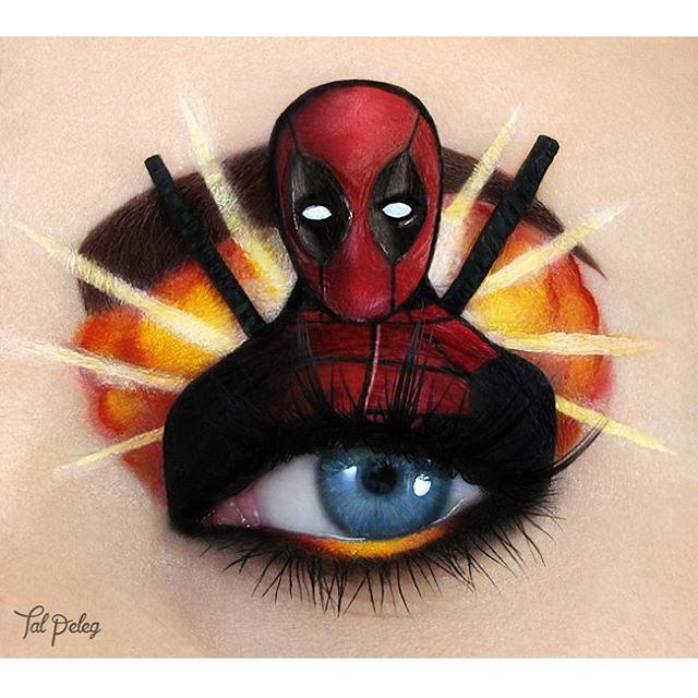 01-Deadpool-Ryan-Reynolds-Tal-Peleg-Body-Painting-and-Eye-Make-Up-Art-www-designstack-co